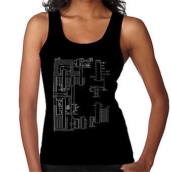Nintendo Computer Schematic Women's Vest
