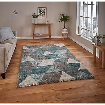 Royal Nomadic 7611 Grey Teal  Rectangle Rugs Plain/Nearly Plain Rugs