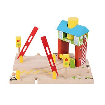 Bigjigs Rail Wooden Signal Box Train Track Railway Accessories Playset
