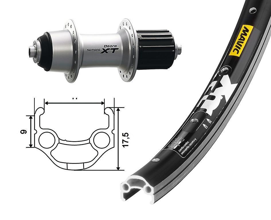 Mavic XM 117 Bicycle Rim Black 559-17 26″