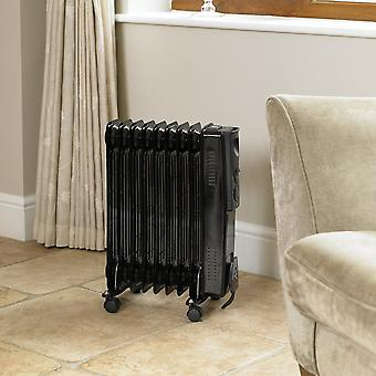 Limitless 2000W Black 9 Fin Oil Filled Radiator Electric Heater