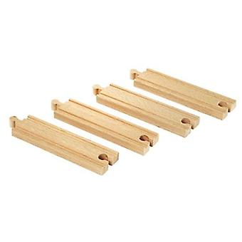BRIO Medium straight tracks 33335 Wooden Railway Extra Track