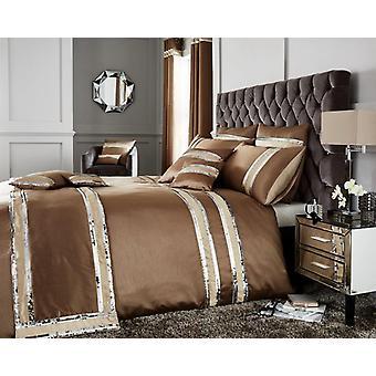 Diva Fancy Sequin Panel lace Duvet Quilt Cover Polycotton Luxury Bedding Set