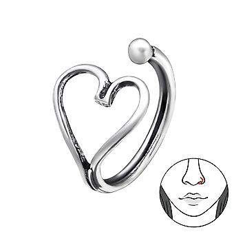 Heart - 925 Sterling Silver Nose Studs - W28383X