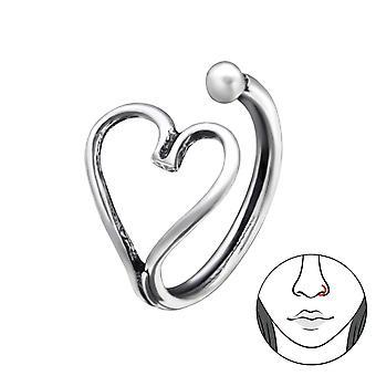 Καρδιά-925 ασημένια καρφιά μύτης-W28383X