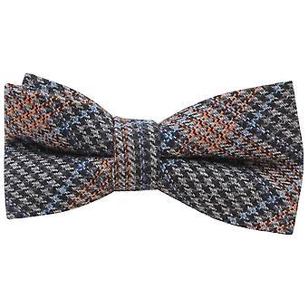 Knightsbridge Neckwear prix du pays de Galles vérifié noeud papillon - bleu/Orange/gris
