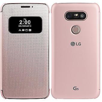 Offiziellen LG Mesh Folio Cover Case für LG G5 - Pink (CFV-160. AGEUPK)
