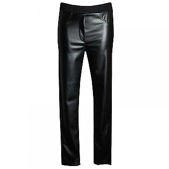 Latte Faux Leather Pull On Trousers