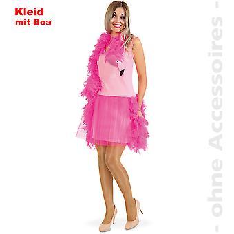 Flamingo kostume dame fjer BOA tyl kjole Pink Lady paradis fugl Lady kostume