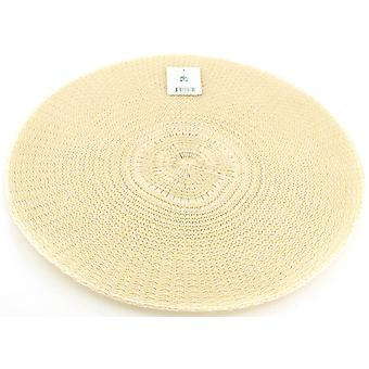 Coaster 4-Pack rodada bege d38cm placemat