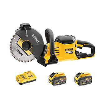 DeWALT DCS690X2-GB 54V FLEXVOLT 230mm Cut Off Saw 2x9ah Batteries