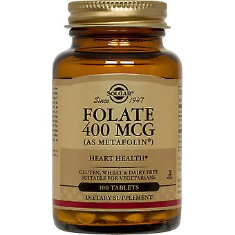 Solgar folaat 400 mcg (als Metafolin) tabletten 100ct
