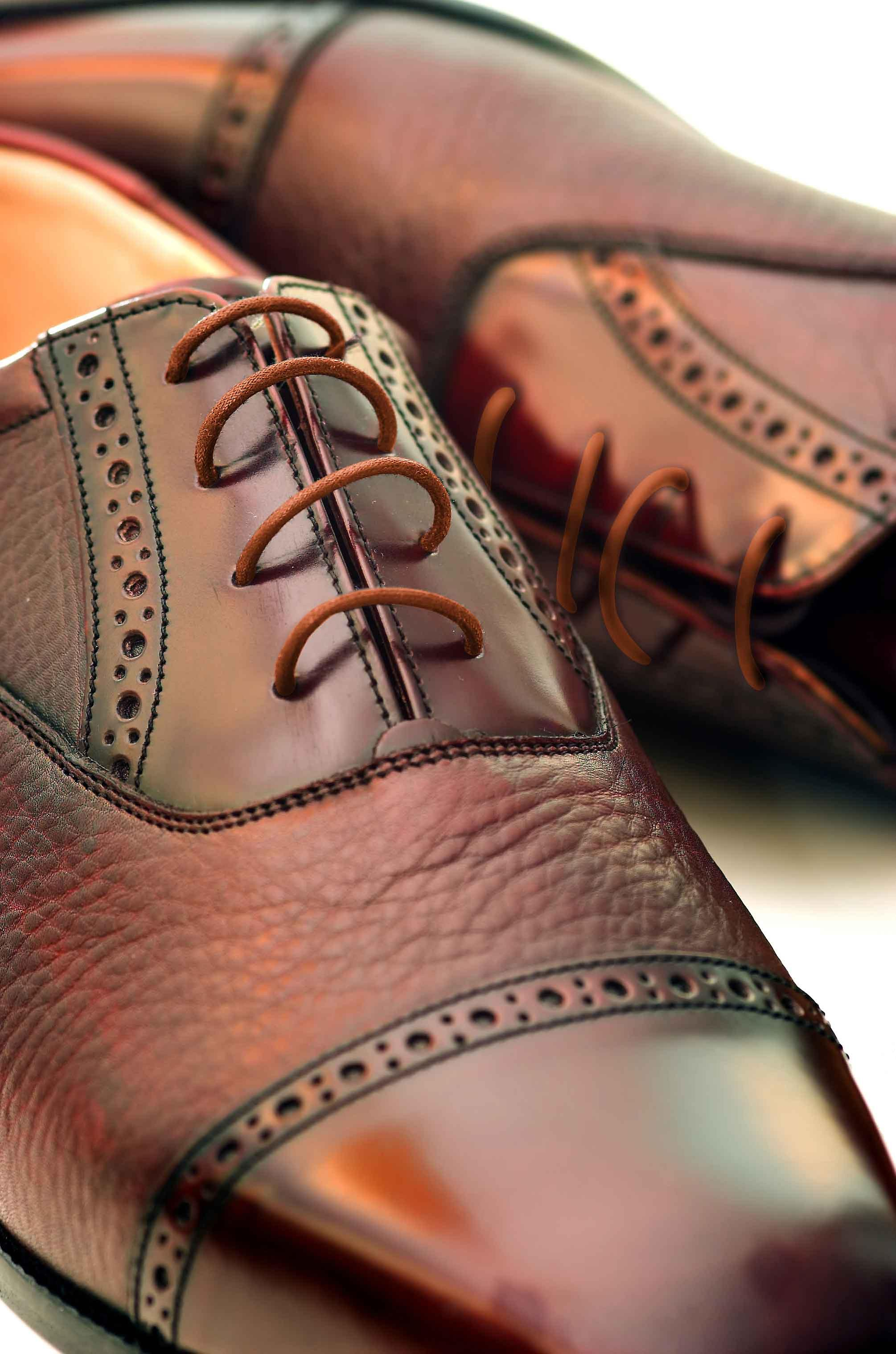 Tan Round Wax Laces