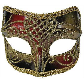 Rood/goud man masker.