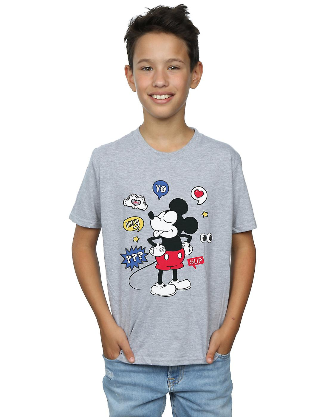 Disney Boys Mickey Mouse Tongue Out T-Shirt