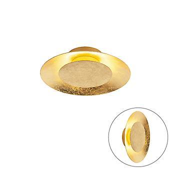 QAZQA Art deco ceiling lamp gold / brass incl. LED - Sun