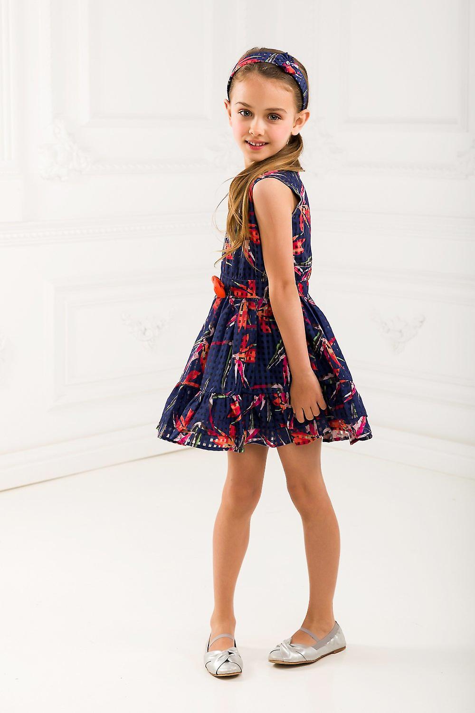 Floral girl blue dress