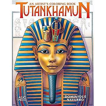 Toutankhamon: Un coloriage livre d'artiste