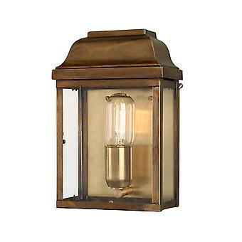 Victoria vegg Lantern messing - Elstead belysning