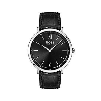 Relógio Hugo Boss masculino analógico de quartzo com pulseira de couro 1513647