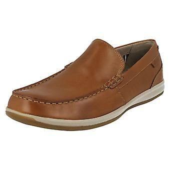 Mens Clarks Moccasin Style Shoes Fallston Step