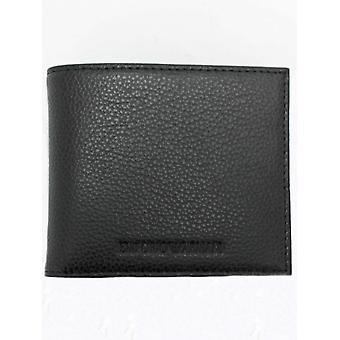 Emporio Armani geprägtes Logo Bifold Geldbörse - schwarz