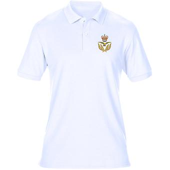 RAF Warrant Officer Cap Badge - officielle Royal Air Force Herre Polo Shirt