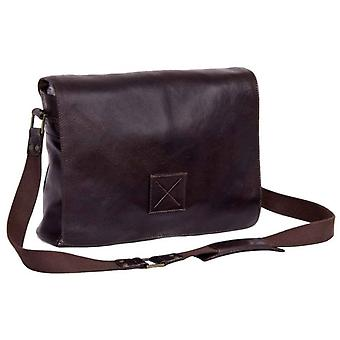 Ashwood nahka Westminster Natural Cow tumble Pedro Messenger Bag-ruskea