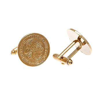 Celtic FC Gold Plated Cufflinks