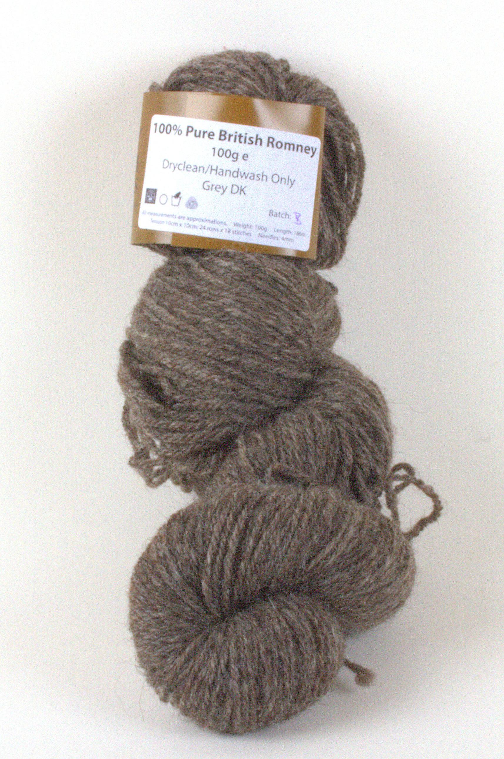 Romney Grey DK - 100g Skein Yarn