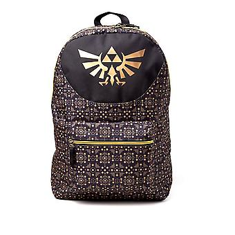 Nintendo Legend of Zelda all-over mønster print rygsæk guld casual daypack