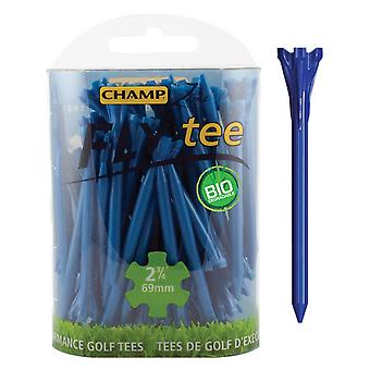 Champ Fly Tee Golf Tee 69 mm 2 3/4 Inch Blue