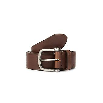 PRETTY GREEN Single Prong Brown Leather Belt