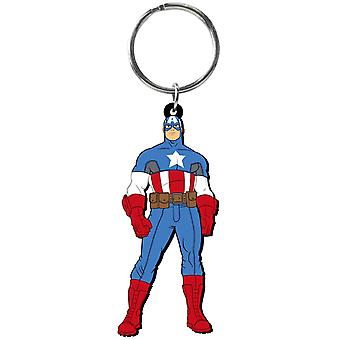 PVC Key Chain - Marvel - Catain America Soft Touch New Toys 68027