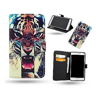 Leather Case/Wallet-Samsung Galaxy Note 4-Tiger