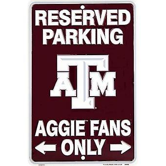 """Texas A&M Aggies NCAA """"Aggie Fans Only"""" Señal de Estacionamiento Reservado"""