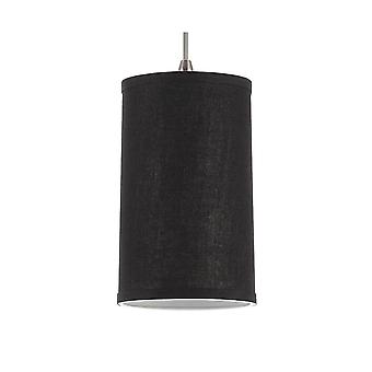 Sea Gull Lighting 94626-987 Pendant Dark Gray Linen Shades Satin Nickel Finish