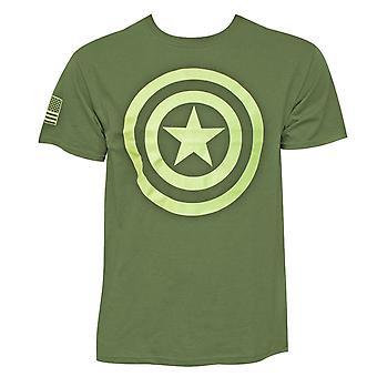 Captain America hälsar på service män ' s T-shirt