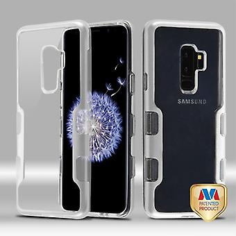 MYBAT Metallic Silver/Transparent Clear TUFF Panoview Hybrid Protector Cover  for Galaxy S9 Plus
