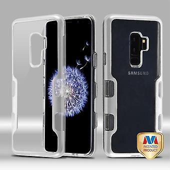 MYBAT Metallic Silver/transparent klar TUFF Panoview hybrid Protector täcka för Galaxy S9 plus