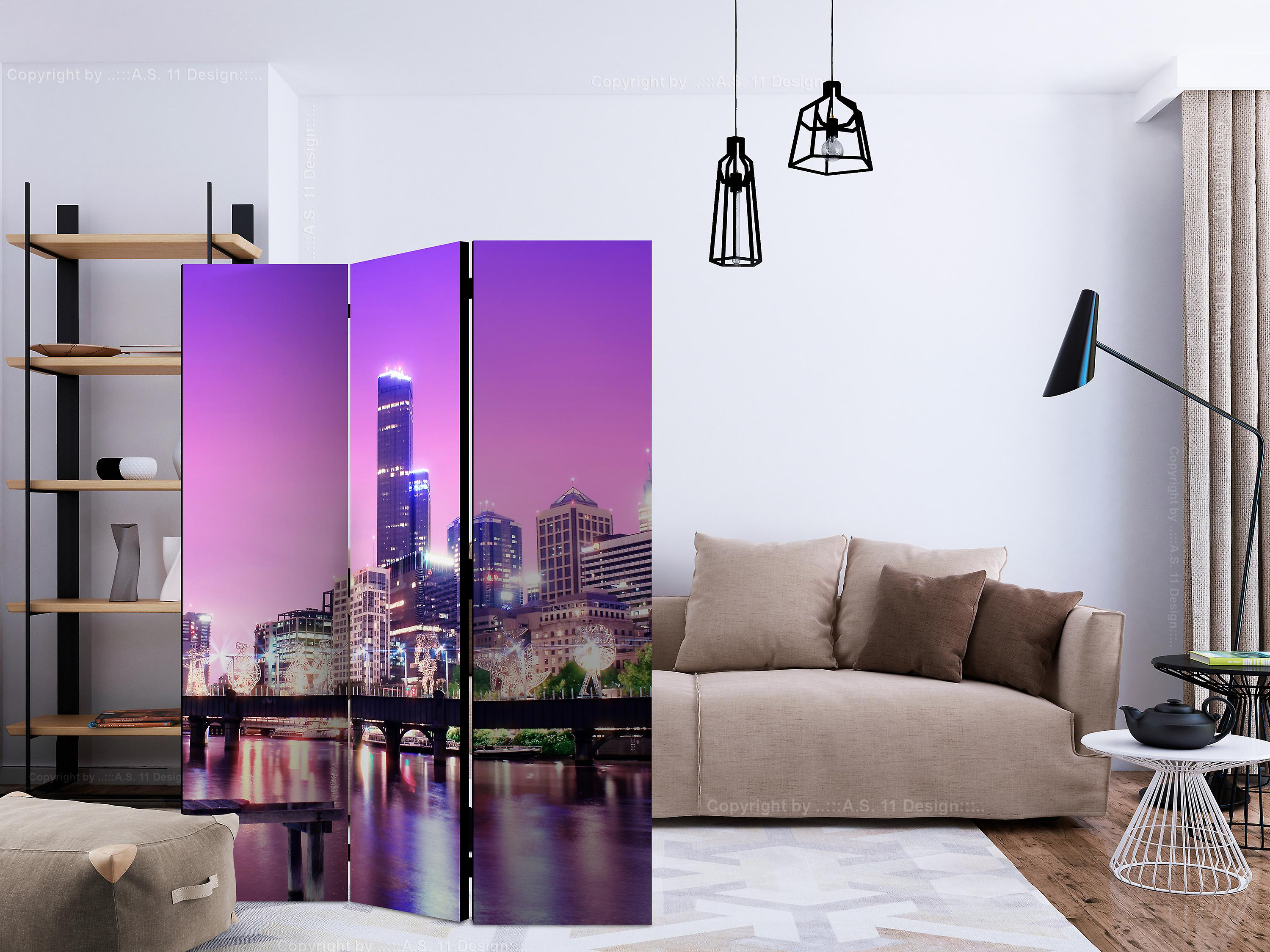 Paravent 3 volets - Purple Melbourne [Room Dividers]