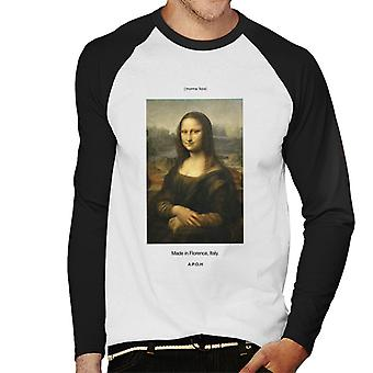 A.P.O.H Mona Lisa Made In Florence Men's Baseball Long Sleeved T-Shirt