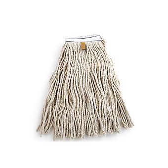 Charles Bentley Kentucky Cotton Replacement Mop Head Strong Industrial White Durable Floor Refill H19x W28.5x L41cm