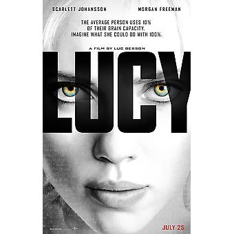 Lucy Original Movie Poster Double Sided Advance