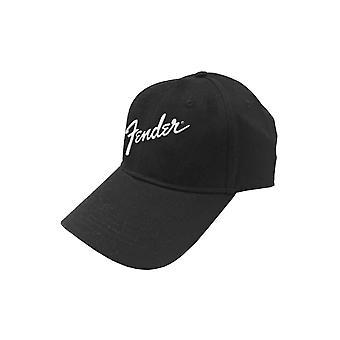 Fender Baseball Cap Classic Logo new Official Black Strapback