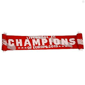Liverpool FC Champions Of Europe 2019 Scarf