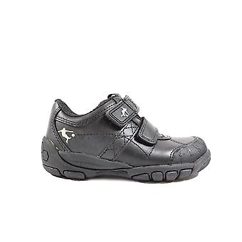 Startrite Hat Trick Black Leather Boys Rip Tape School Shoes