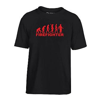 T-shirt bambino nero dec0085 evolution firefighter