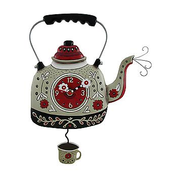Allen Designs Kettle's On Decorative Tea Pot Wall Clock