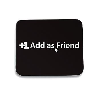 Tappetino mouse pad nero trk0488 add friend